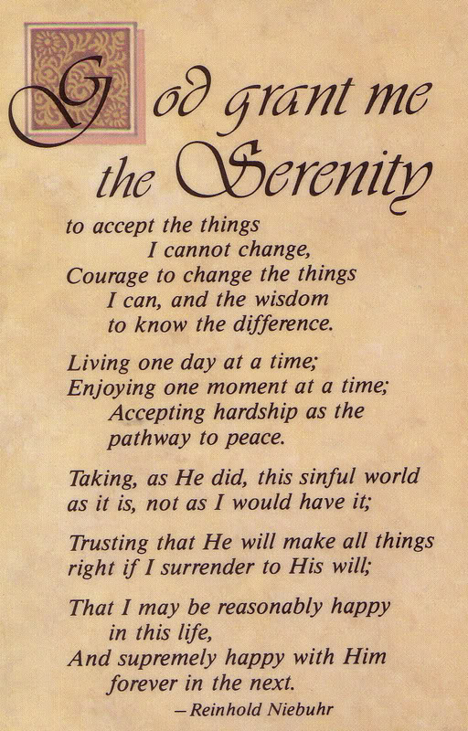 It 39s like the serenity prayer says Romance is not the only piece to that